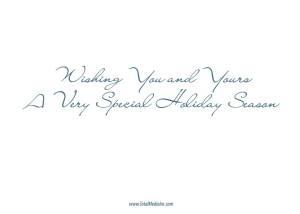 Holiday Lamp Post  Card Back