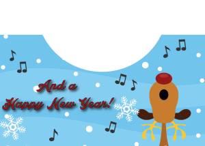 Singing Reindeer Card Inside