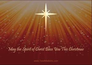 Religious Christmas Card Back