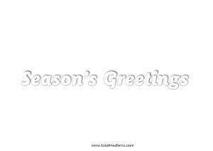 Christmas Tree Card Back